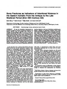 Bone fractures as indicators of intentional ... - Wiley Online Library