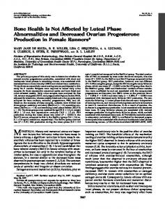 Bone Health Is Not Affected by Luteal Phase Abnormalities and ...