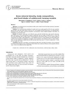 Bone mineral density, body composition, and food intake of ... - SciELO