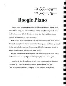 Boogie Piano - Colorado Power Piano