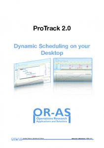 Book Dynamic Scheduling on your Desktop using ProTrack 2.0
