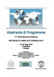 Book of abstracts - 12th International Conference