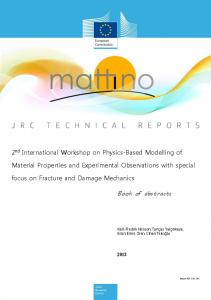 Book of abstracts 2nd International Workshop on Physics ... - iMechanica