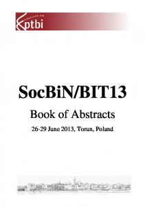 Book of Abstracts Book of Abstracts k of Abstracts