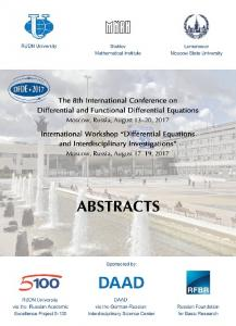 Book of Abstracts - DFDE-2017