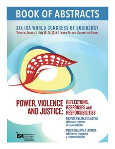 Book of Abstracts: XIX ISA World Congress of