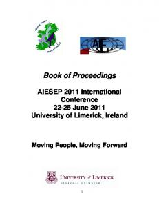 Book of Proceedings - AIESEP