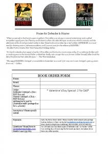 BOOK ORDER FORM - Chris Allen