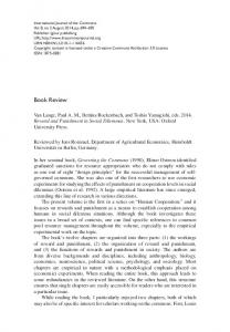 Book Review - International Journal of the Commons