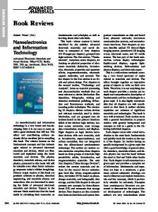 Book Review: Nanoelectronics and Information Technology. By ...