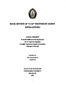 "BOOK REVIEW OF ""5 CM"" WRITTEN BY DONNY DHIRGANTORO"