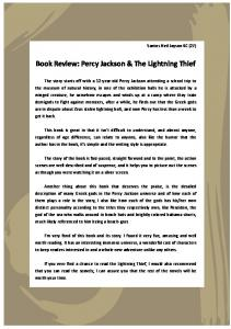 Book Review: Percy Jackson & The Lightning Thief