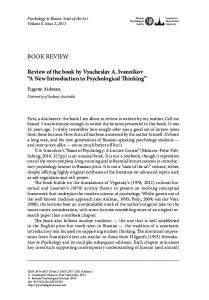 """BOOK REVIEW Review of the book by Vyacheslav a. ivannikov """"a new ..."""