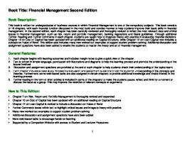 Book Title: Financial Management Second Edition