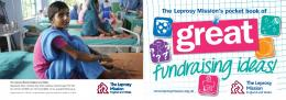 booklet of fundraising ideas - The Leprosy Mission