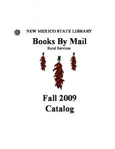 Books By Mail Fall 2009 Catalog