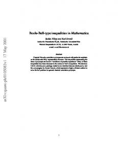 Boole-Bell-type inequalities in Mathematica