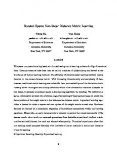 Boosted Sparse Non-linear Distance Metric Learning