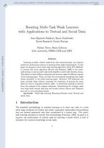 Boosting Multi-Task Weak Learners with Applications to Textual and ...