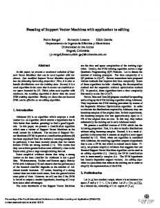 Boosting of Support Vector Machines with application to ... - Elkin Garcia