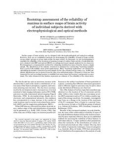 Bootstrap assessment of the reliability of maxima ... - Semantic Scholar