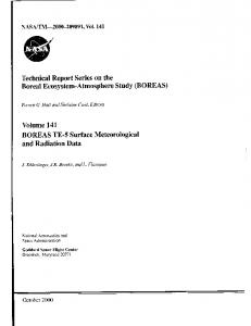 BOREAS - NASA Technical Reports Server (NTRS)