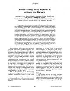 Borna Disease Virus Infection in Animals and Humans - CDC stacks