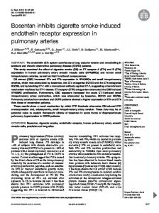 Bosentan inhibits cigarette smoke-induced endothelin receptor ...
