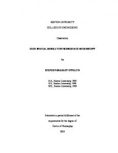 BOSTON UNIVERSITY COLLEGE OF ENGINEERING Dissertation ...