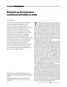 Botched-up Development and Electoral Politics in India