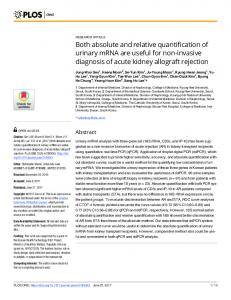 Both absolute and relative quantification of urinary ... - Semantic Scholar