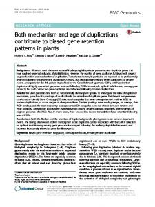 Both mechanism and age of duplications contribute to ... - Springer Link