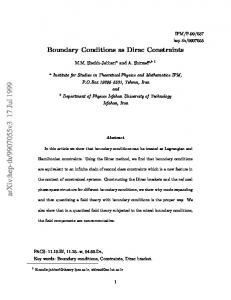 Boundary Conditions as Dirac Constraints