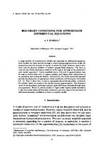 Boundary conditions for approximate differential