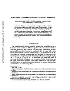 Boundary Conditions for Fractional Diffusion