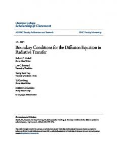 Boundary Conditions for the Diffusion Equation in ... - Semantic Scholar