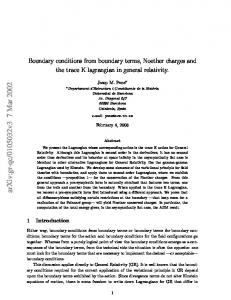 Boundary conditions from boundary terms, Noether charges and the