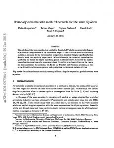 Boundary elements with mesh refinements for the wave equation