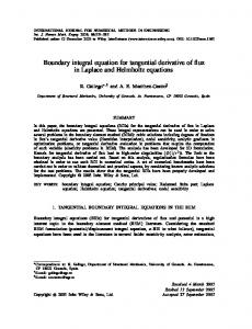 Boundary integral equation for tangential