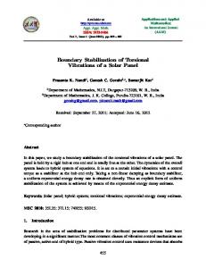 Boundary Stabilization of Torsional Vibrations of a Solar Panel