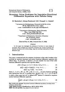 Boundary Value Problems for Impulsive Functional Differential ...