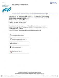 Bounded careers in creative industries: Surprising ...
