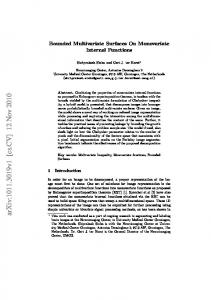 Bounded Multivariate Surfaces On Monovariate Internal Functions
