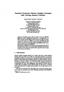 Bounded Parameter Markov Decision Processes with ... - CiteSeerX