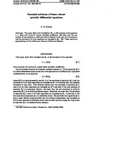 Bounded solutions of linear almost periodic differential equations
