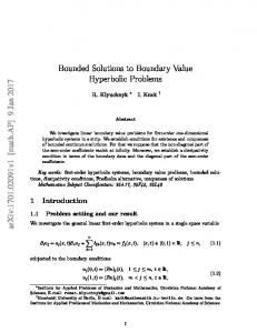 Bounded Solutions to Boundary Value Hyperbolic Problems