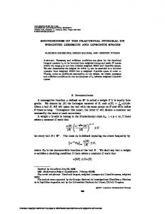 BOUNDEDNESS OF THE FRACTIONAL INTEGRAL ON WEIGHTED ...
