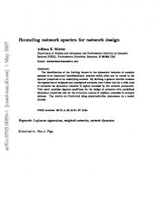 Bounding network spectra for network design
