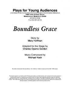 Boundless Grace - Plays for Young Audiences