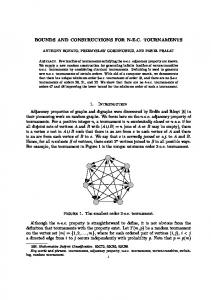 BOUNDS AND CONSTRUCTIONS FOR NE.C ... - Semantic Scholar